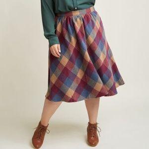 Modcloth Sunday Sojourn Skirt - NWOT - L
